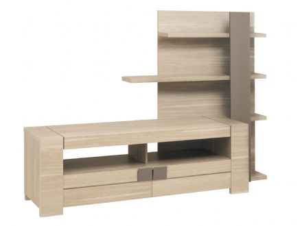 Atlanta Light Oak Tv Unit